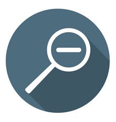 Magnifier decrease zoom icon flat style vector