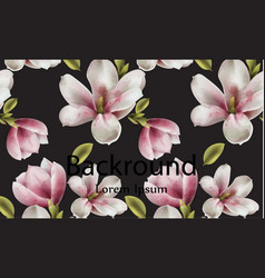 magnolia background watercolor flowers vector image