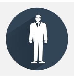 Man icon Office worker symbol Standing men in vector image