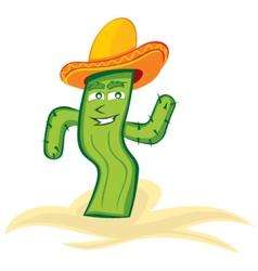 Mexican cactus vector image