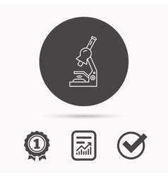 Microscope icon medical laboratory equipment vector