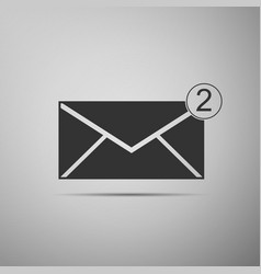 new email incoming message sms envelope icon vector image