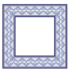 ornate frame in ethnic style tribal beads hand vector image