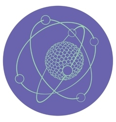 outline atom nucleus vector image
