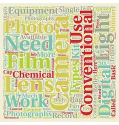 Photography Q A Types Of Photography Equipment vector image