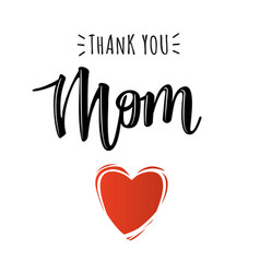poster with thank you mom text vector image