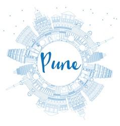 Pune circle cloud outline vector