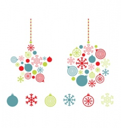 red blue and green decorations vector image