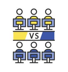 round-robin tournament color icon vector image