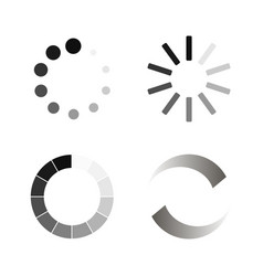 Set loading icons vector