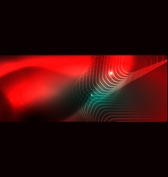 shiny glowing design background neon style lines vector image