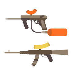 Sniper weapon flat paintball or airsoft vector