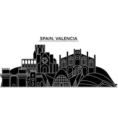 Spain valencia architecture city skyline vector