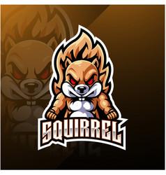Squirrel esport mascot logo design vector
