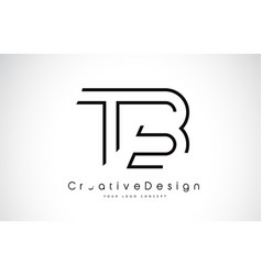 Tb t b letter logo design in black colors vector