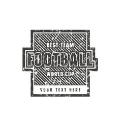 template emblem for football championship vector image