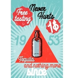 Tequila color banner vector image