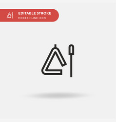 triangle simple icon symbol vector image