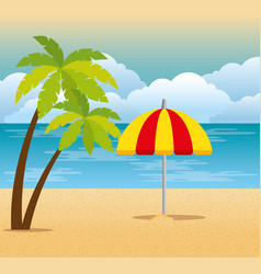 tropical beach summer scene vector image