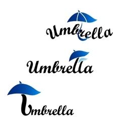 Umbrella logotype of company vector
