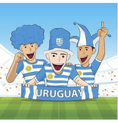 Uruguay sport fan vector