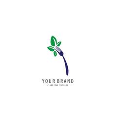 vegan symbol logo vector image