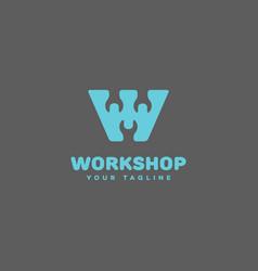 Workshop logo vector