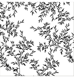 tree branches with leaves vector image vector image