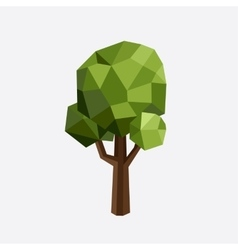 Triangle polygonal tree silhouette eco vector image vector image