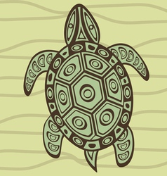 Turtle 4 vector image vector image
