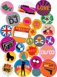 badges 80s style pop retro vector image vector image