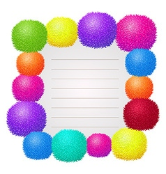 Border design with colorful ball vector image