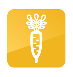 Daikon outline icon vegetable root vector