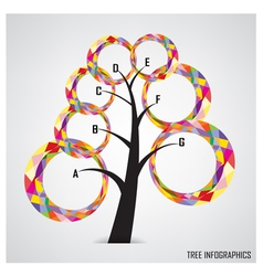 Tree infographics and business symbol vector image vector image