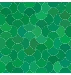 Abstract seamless scale green pattern vector