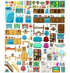 Big set of furniture vector image vector image