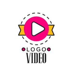 cinema or video company logo template creative vector image vector image