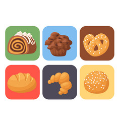 Cookie cakes tasty snack delicious vector