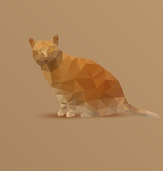 Fat yellow triangle cat vector
