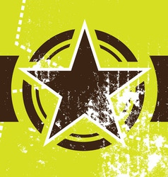 grunge star retro background vector image vector image