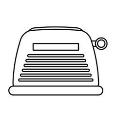 Toaster home appliance isolated icon vector