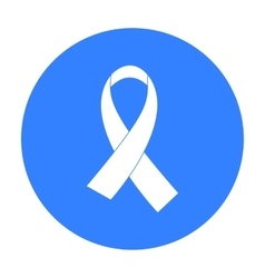 AIDS ribbon icon in black style isolated on white vector image
