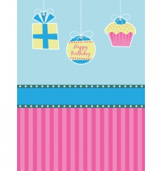 birthday decorations vector image vector image