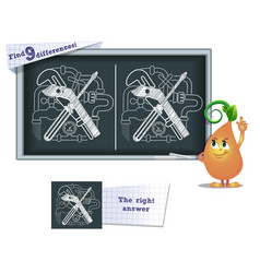 game find 9 differences fitter tools vector image