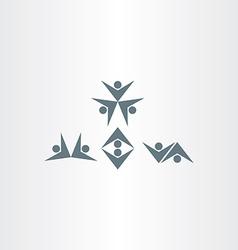 happy people dancing icons set vector image