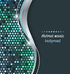 Abstract mosaic background with wave vector image