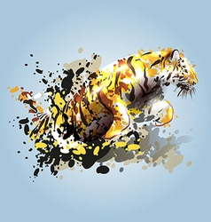 Abstract of a leaping tiger vector