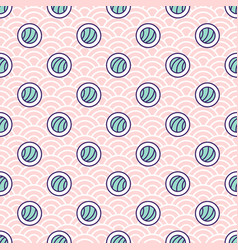 abstract sushi rolls seamless pattern on vector image
