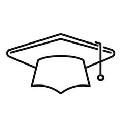 Academy graduation hat icon outline school vector