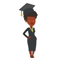 African-american graduate vector